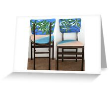 Folding Chairs II Greeting Card