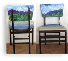 Folding Chairs III Canvas Print