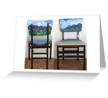 Folding Chairs III Greeting Card