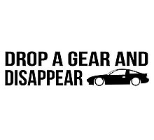 """""""Drop a gear and disappear"""" - Nissan 180SX Photographic Print"""