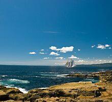 Schooner off Schoodic Peninsula, Maine by MarkEmmerson