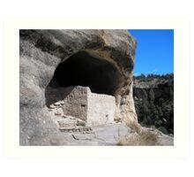 Gila Cliff Dwellings Art Print