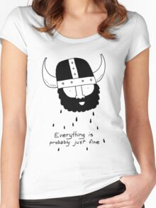 Everything is probably just fine Viking Women's Fitted Scoop T-Shirt