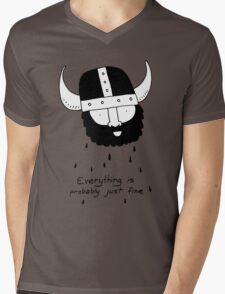 Everything is probably just fine Viking Mens V-Neck T-Shirt