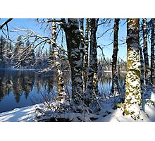 Snowy Lake Photographic Print