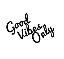 Good Vibes Only Typography Design by hellosailortees