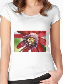 Red and Purple Passion Women's Fitted Scoop T-Shirt