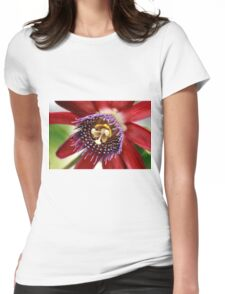 Red and Purple Passion Womens Fitted T-Shirt