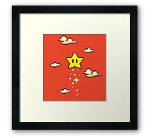 Star in the Clouds Framed Print
