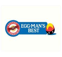 Egg-Man's Best Art Print