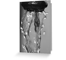 Water Macro Greeting Card