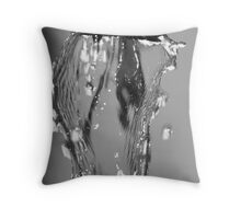 Water Macro Throw Pillow