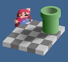 Warp Pipe Shadow Illusion by minilla