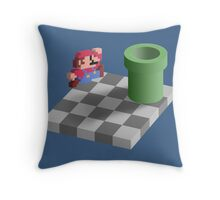Warp Pipe Shadow Illusion Throw Pillow