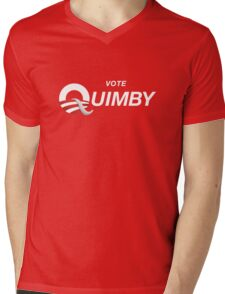 Vote Quimby Mens V-Neck T-Shirt