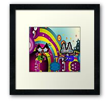 Hippie Cats Play Rock and Roll  Framed Print