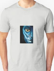 Blue oil pastel inspired by Avatar T-Shirt