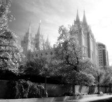 Salt Lake Temple - Black and White by Ryan Houston