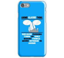 The Anime Glasses Thing iPhone Case/Skin