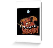 Bad Axe Beavers Greeting Card