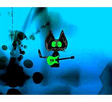 Tattered Mouse, a Rock Star Cat Photographic Print