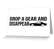 """Drop a gear and disappear"" - Chevrolet Camaro Greeting Card"