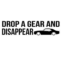 """Drop a gear and disappear"" - Chevrolet Camaro Photographic Print"