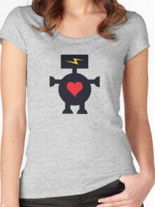 Cute Heart Robot Women's Fitted Scoop T-Shirt