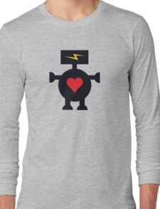 Cute Heart Robot Long Sleeve T-Shirt