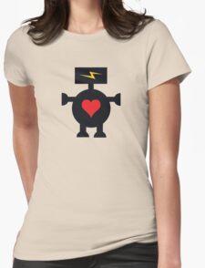Cute Heart Robot Womens Fitted T-Shirt