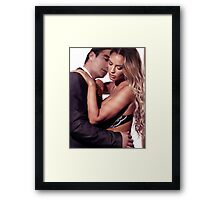 Sexy couple portrait art photo print Framed Print