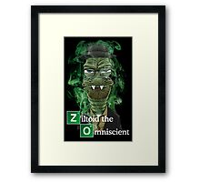 Ziltoid as Heisenberg - Black Framed Print