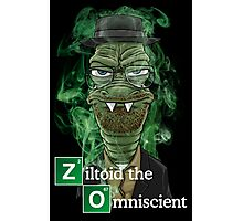 Ziltoid as Heisenberg - Black Photographic Print