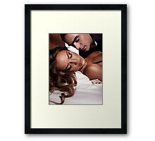 Sensual artistic portrait of a couple art photo print Framed Print