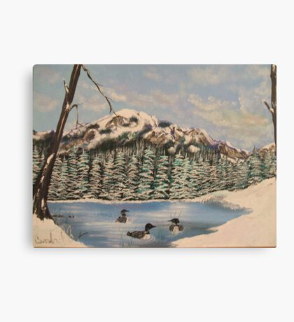 Winter Loons Canvas Print