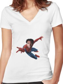 Donald for Spiderman Women's Fitted V-Neck T-Shirt