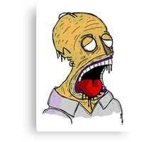 Zombie Homer Canvas Print