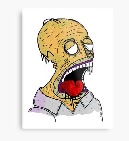 Zombie Homer Metal Print