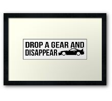 """""""Drop a gear and disappear"""" - Toyota Supra Framed Print"""