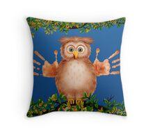 Peek-a-Boo Owl Critter Throw Pillow