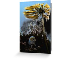 Echoes of a flower Greeting Card
