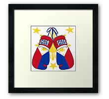 Peoples Champ Pac Man Boxing Gloves Framed Print