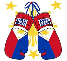 Peoples Champ Pac Man Boxing Gloves Photographic Print