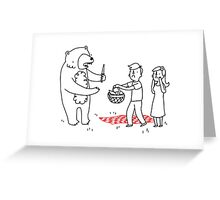 Picnic Bandit Greeting Card