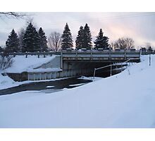 Winter dam 2 Photographic Print