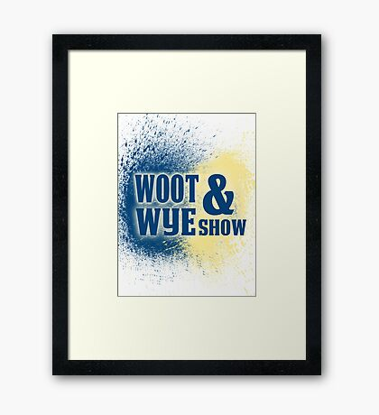 Woot and Wye Splash Framed Print