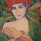Waratah woman by Kestrelle