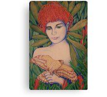 Waratah woman Canvas Print