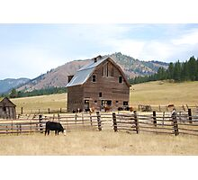 Old Country Barn Photographic Print