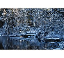 Winter Lake Reflections Photographic Print